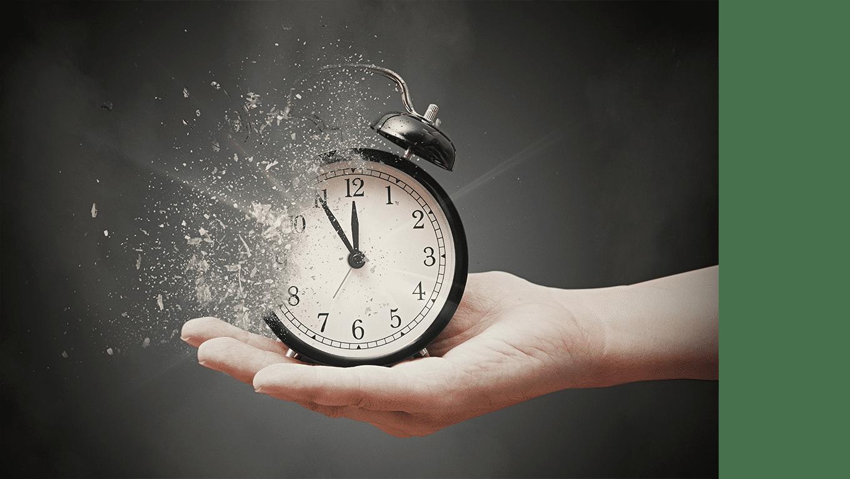 Reloj desvaneciendose
